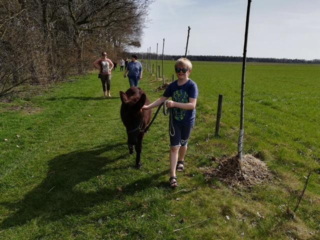 Foto's KIDS bezoek aan Heierhof struisvogel en ezelboerderij April 2018